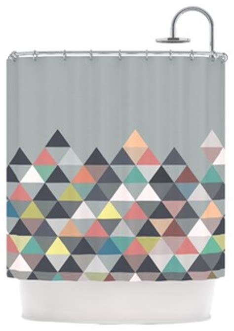 scandinavian shower curtain quot nordic combination quot abstract shower curtain by mareike