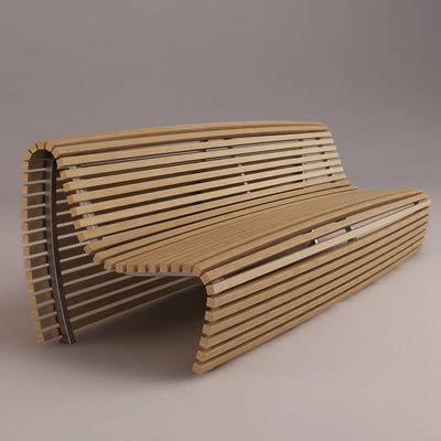 3d bench model titikaka bench b italia 3d model