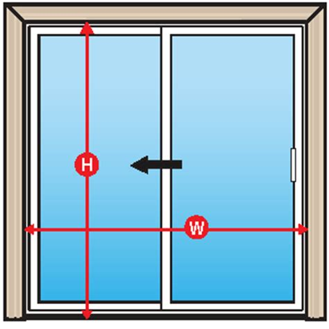 how to measure a sliding patio door