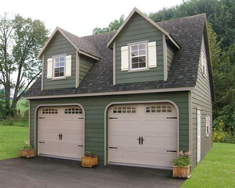 amish 2 car garage