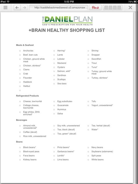 The Daniel Plan Detox Guide by 25 Best Ideas About Healthy Shopping Lists On