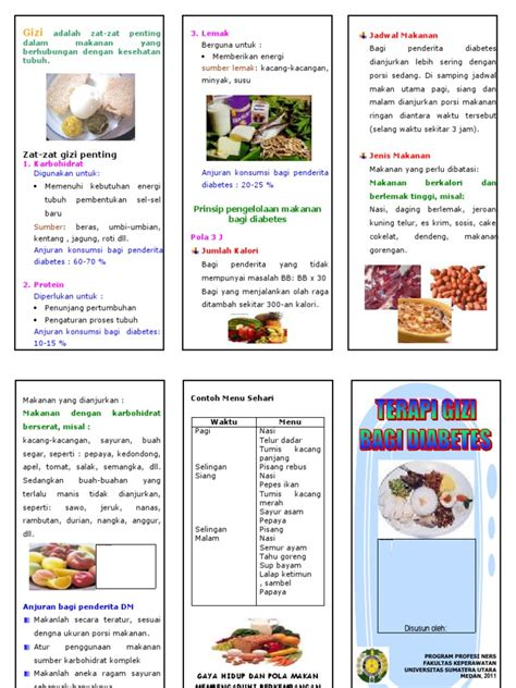 leaflet diet penderita diabetes