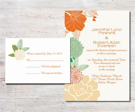 Orange Theme Wedding Invitations by Floral Arrangements Inspired Boho Theme Wedding Ideas And