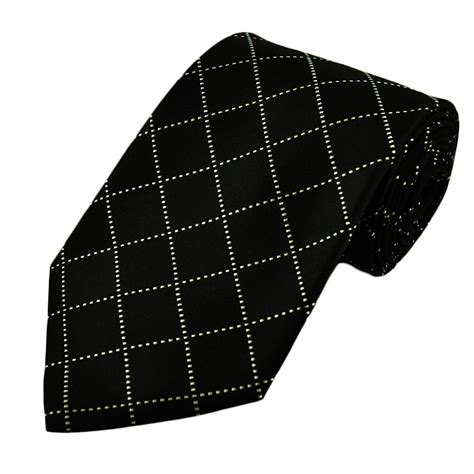 black white check silk tie from ties planet uk