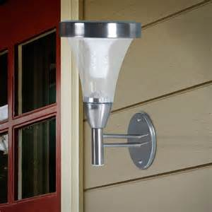 walmart outdoor solar lights garden outdoor wall or post mount solar lights 2pk