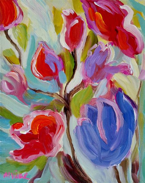 acrylic painting floral original abstract floral painting flower original acrylic