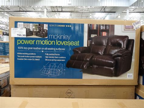 power reclining sofa costco spectra mckinley leather power motion loveseat