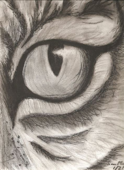Cool Things To Draw With Charcoal charcoal eye drawing are my favorite things to draw