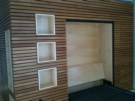 modern wood wall trim murphy bed