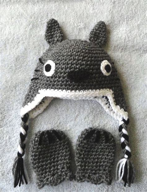 Shower Cap Totoro totoro inspired baby hat mittens and cover set
