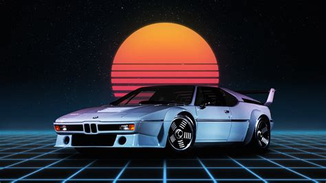 Car Wallpaper Retro by Wallpaper Bmw M1 Retro Style Synthwave German Cars