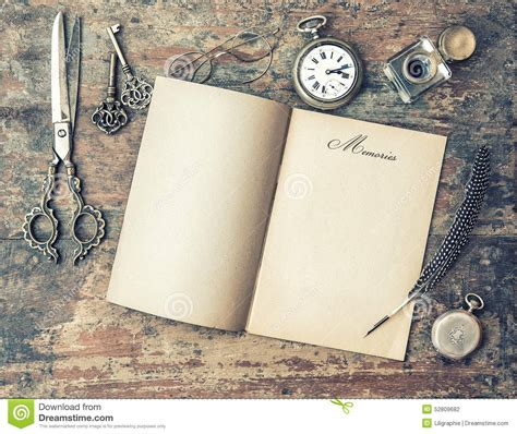Book Review The Journal Of Mortifying Moments By Robyn Harding by Open Journal Book And Vintage Writing Tools Memories