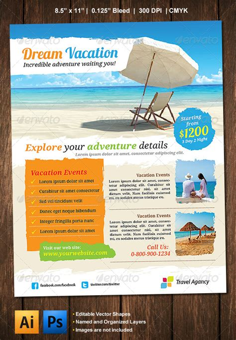 vacation flyer template vacation flyer graphicriver