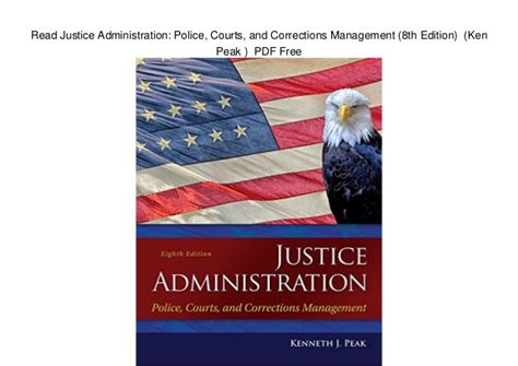 justice administration courts and corrections management 9th edition what s new in criminal justice books read justice administration courts and