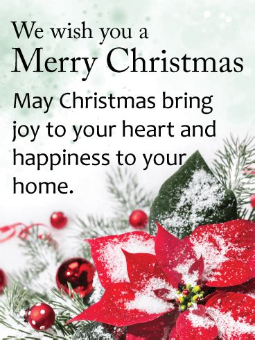 snow covered christmas poinsettia card birthday greeting cards  davia