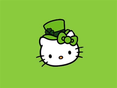 hello kitty wallpaper st patricks day march 2012 hello kitty forever