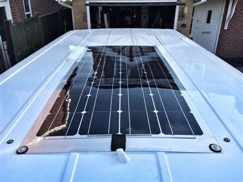 living in a rv with solar panels cervan solar panel installation richard mackney