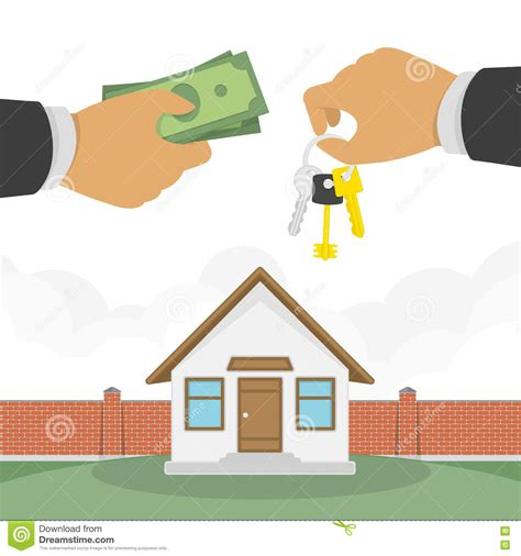 buy a house for free buying a house vector illustration stock vector image 82149262
