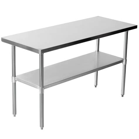 work bench table stainless steel work bench table kitchen top 24 quot x 60 quot ebay