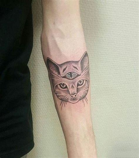 three eyed cat tattoo idea