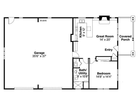 1 Bedroom Garage Apartment Floor Plans Garage Apartment Plans 1 Story Garage Apartment Plan