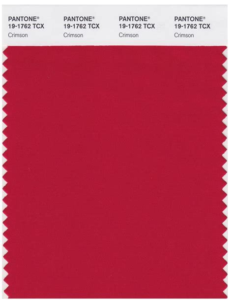 pantone smart   tcx color swatch card crimson