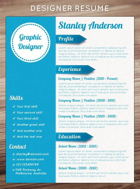 easy creative resume format 89 best graphic arts resume design images on