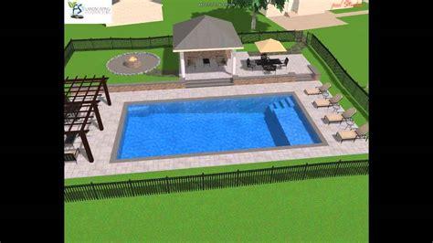 Backyard Cabana Ideas by Rectangle Pool Design Youtube