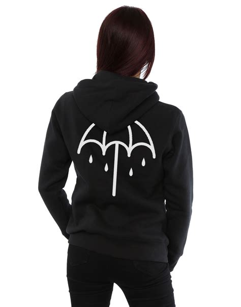 Zipper Bmth New Logo bring me the horizon s umbrella logo zip up hoodie ebay
