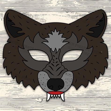 big bad wolf template the three pigs printable masks big bad wolf wolf