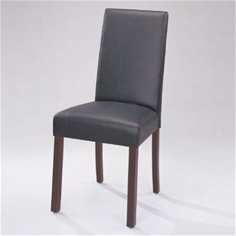Black Leather Parsons Dining Chairs Classic Roll Back Black Leather Parsons Dining Chair 1298
