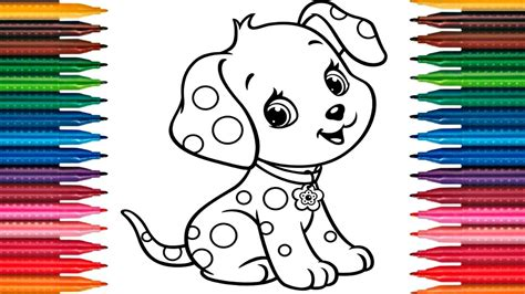 draw coloring book drawing puppy how to draw coloring book painting