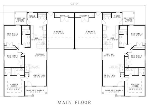 duplex with garage plans best 25 duplex plans ideas on duplex house plans duplex house and duplex floor plans