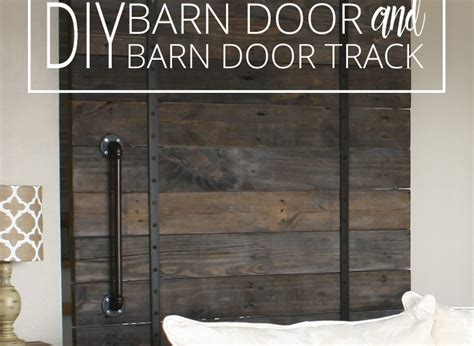make your own barn door track how to decorate with family photos