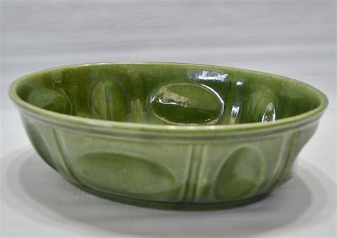 Haeger Planter by Vintage Haeger Pottery Oval Green Planter Usa 3929