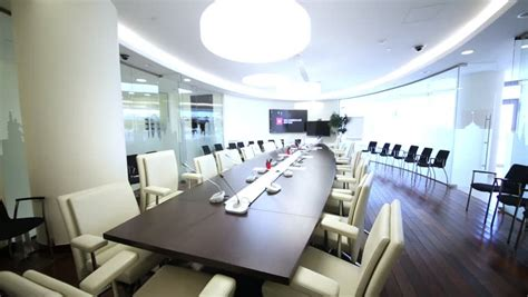 Big Meeting Table Moscow Russia Apr 10 2014 Meeting Room With Big Conference Table In Office Of Moscow