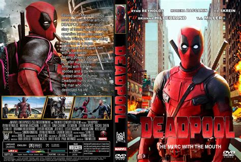 deadpool covers deadpool dvd cover 2016 r1 custom