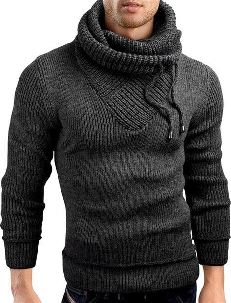 knit hoodie grin slim fit shawl collar knit sweatshirt cardigan