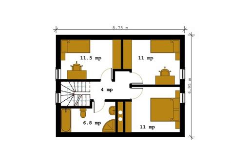 square meter home design for 100 sq meter house plans under 160 square