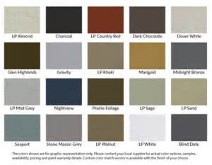 lp smart siding colors lake states