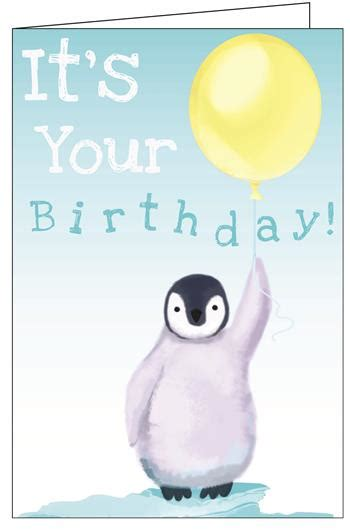 Penguin Birthday Cards Greeting Cards Birthday Penguin Really Big Greeting Card