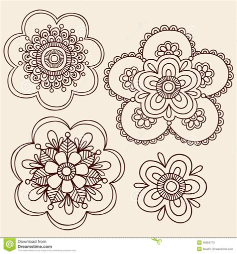 free vector floral doodle henna mehndi paisley flower doodle design stock vector