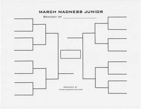 16 team bracket template march madness junior bracket and basketball activities for