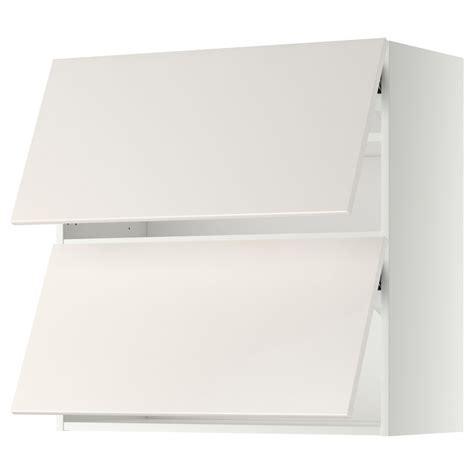 wandschrank horizontal ikea metod wall cabinet horizontal w 2 doors white veddinge