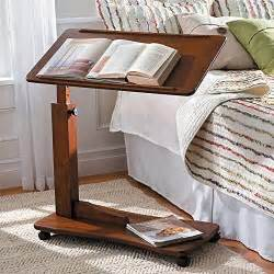 Bedside Tray Table Adjustable Hospital Bedside Rolling Bed Tray Table Bedroom