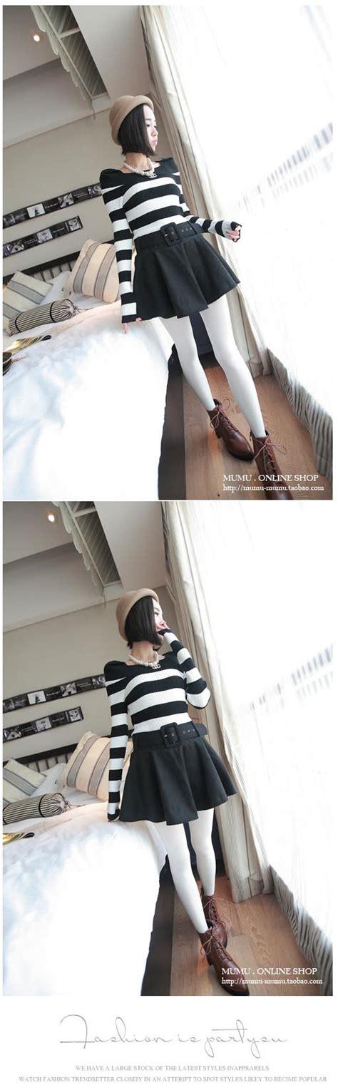 Baju Atasan Wanita Blouse Switer Sweater Lucu blouse wanita korea hitam putih simple model terbaru