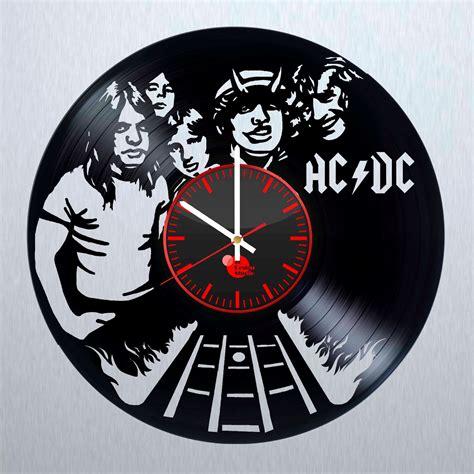 vinyl record wall clock acdc live handmade vinyl record wall clock vinyl clocks
