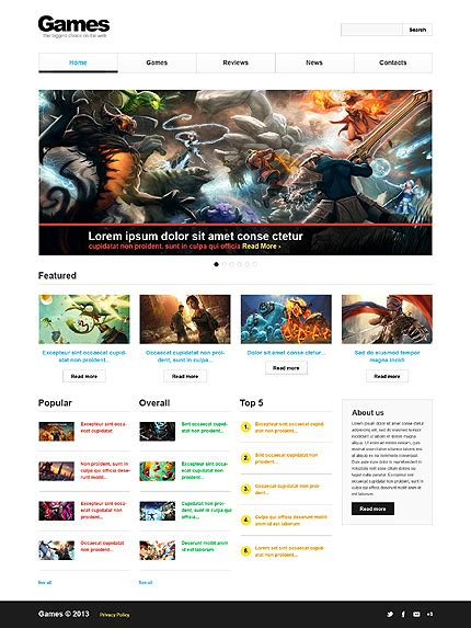 free bootstrap templates for gaming шаблон tm 43546