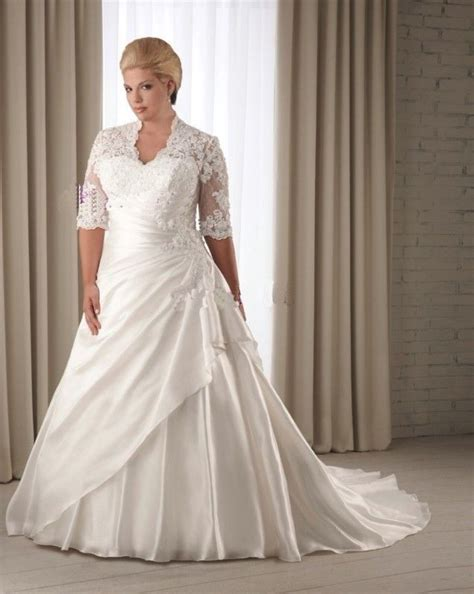 Size 22 Wedding Dresses by Custom Plus Size 1 2 Sleeve Lace Wedding Dress Bridal Gown
