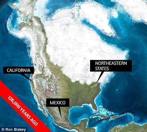map of america 10000 years ago what america looked like 550 million years ago daily mail